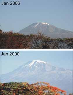 kilimanjaro ice loss