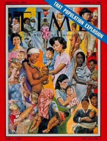 Time magazine used the Population Explosion idea on its cover. (Picture courtesy - shipbright.wordpress.com).